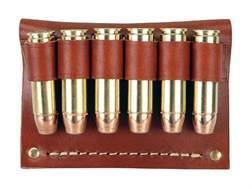Hunter Cartridge Belt Slide Pistol Ammunition Carrier 500 S&W 6-Round Leather Brown