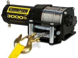 Champion 3000 lb Winch Kit with 45.9' Galvanized Cable