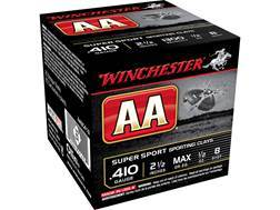 "Winchester AA Super Sport Sporting Clays Ammunition 410 Bore 2-1/2"" 1/2 oz #8 Shot"