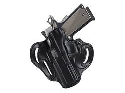 DeSantis Speed Scabbard Belt Holster Left Hand S&W M&P Shield Leather Black