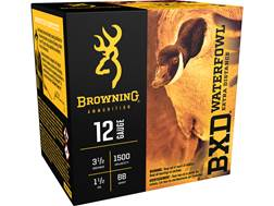 "Browning BXD Waterfowl Ammunition 12 Gauge 3-1/2"" 1-1/2 oz BB Non-Toxic Steel Shot"