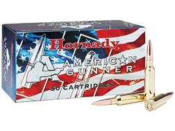 Hornady American Gunner Ammunition 6.5 Creedmoor 140 Grain Hollow Point Boat Tail Box of 50