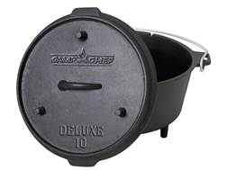 """Camp Chef 10"""" Deluxe Dutch Oven Cast Iron"""