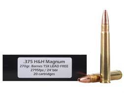 DoubleTap Ammunition 375 H&H Magnum 270 Grain Barnes Triple-Shock X Bullet Lead-Free Box of 20