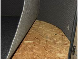 Banks Blinds Stump Box Blind Floor Mat Rubber Gray