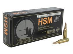 HSM Varmint Gold Ammunition 17 Remington Fireball 25 Grain Berger Varmint Hollow Point Flat Base ...