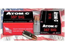 Atomic Ammuniton 357 Sig 147 Grain Bonded Jacketed Hollow Point Box of 20