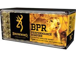 Browning BPR Ammunition 22 Winchester Magnum Rimfire (WMR) 40 Grain Jacketed Hollow Point