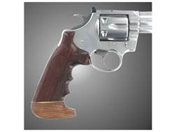 Hogue Fancy Hardwood Grips with Accent Stripe, Finger Grooves and Contrasting Butt Cap Colt Anaco...