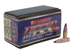 Barnes Tipped Triple-Shock X Bullets 270 Caliber (277 Diameter) 110 Grain Spitzer Boat Tail Lead-...