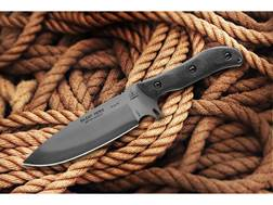 "TOPS Knives Silent Hero Fixed Blade Knife 6.38"" Hunters Point 1095 High Carbon Alloy Blade Linen ..."