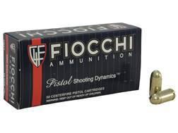 Fiocchi Shooting Dynamics Ammunition 9x18mm (9mm Makarov) 95 Grain Full Metal Jacket Box of 50