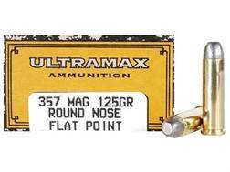 Ultramax Cowboy Action Ammunition 357 Magnum 125 Grain Lead Flat Nose Box of 50