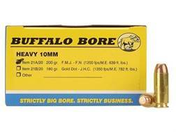Buffalo Bore Ammunition 10mm Auto 200 Grain Full Metal Jacket Box of 20