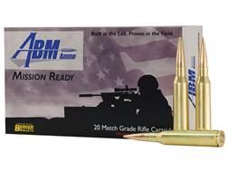ABM Mission Ready-Tactical Ammunition 338 Lapua Magnum 300 Grain Berger Match Hybrid OTM Tactical...