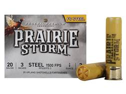 "Federal Premium Prairie Storm Ammunition 20 Gauge 3"" 7/8 oz #3 Steel Shot Box of 25"