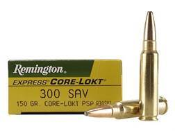 Remington Express Ammunition 300 Savage 150 Grain Core-Lokt Soft Point Box of 20