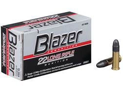 Blazer Ammunition 22 Long Rifle 40 Grain Lead Round Nose Box of 500 (10 Boxes of 50)