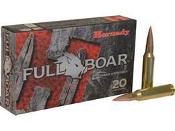 Hornady Full Boar Ammunition 7mm-08 Remington 139 Grain GMX Boat Tail Lead-Free Box of 20