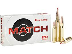Hornady Match Ammunition 6mm Creedmoor 108 Grain ELD Match Box of 20