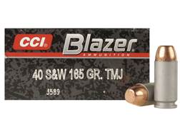 Blazer Ammunition 40 S&W 165 Grain Total Metal Jacket Box of 50