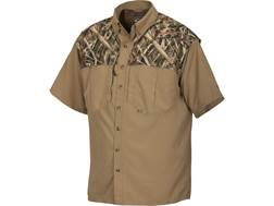 Drake Men's EST Two-Tone Vented Wingshooter's Shirt Short Sleeve