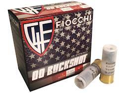 "Fiocchi Ammunition 12 Gauge 2-3/4"" 00 Buckshot 9 Pellets High Brass Box of 25"