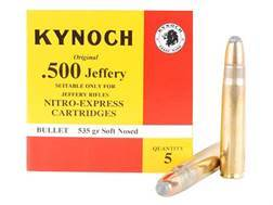 Kynoch Ammunition 500 Jeffery 535 Grain Woodleigh Weldcore Soft Point Box of 5