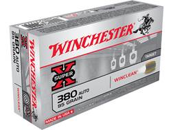 Winchester WinClean Ammunition 380 ACP 95 Grain Brass Enclosed Base