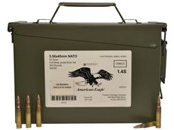 Federal American Eagle Ammunition 5.56x45mm NATO 55 Grain XM193 Full Metal Jacket Boat Tail Ammo ...