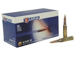 Lapua Scenar Ammunition 6.5x55mm Swedish Mauser 123 Grain Point Boat Tail Hollow High Velocity Bo...
