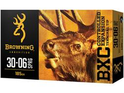 Browning BXC Controlled Expansion Ammunition 30-06 Springfield 185 Grain Terminal Tip