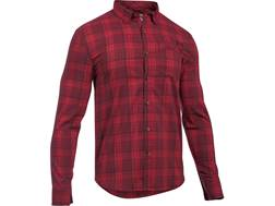 Under Armour Men's UA Victor Plaid Shirt Long Sleeve Polyester and Cotton