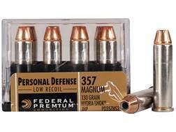 Federal Premium Personal Defense Reduced Recoil Ammunition 357 Magnum 130 Grain Hydra-Shok Jacket...