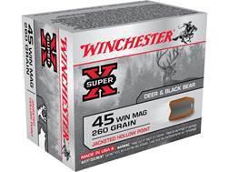 Winchester Super-X Ammunition 45 Winchester Magnum 260 Grain Power Point