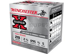 "Winchester Super-X High Brass Ammunition 28 Gauge 2-3/4"" 3/4 oz #5 Shot"