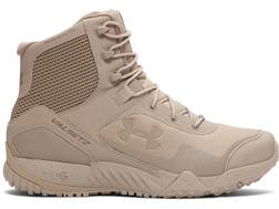 "Under Armour UA Valsetz RTS 7"" Uninsulated Tactical Boots Leather and Nylon Desert Sand Men's"