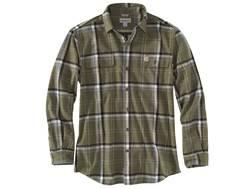 Carhartt Men's Hubbard Plaid Flannel Button-Up Shirt Cotton