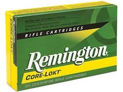 Remington Core-Lokt Ammunition 6.5 Creedmoor 140 Grain Core-Lokt Pointed Soft Point Box of 20
