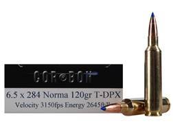 Cor-Bon DPX Hunter Ammunition 6.5mm-284 Norma 120 Grain Tipped DPX Lead-Free Box of 20