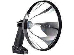 Lightforce Enforcer 240 Halogen Handheld Spotlight 12V Plug-In and Alligator Clip Polymer Black
