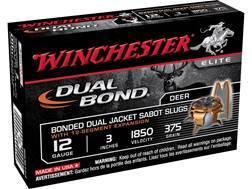 "Winchester Dual-Bond Ammunition 12 Gauge 3"" 375 Grain Jacketed Hollow Point Sabot Slug"