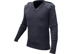 Military Surplus British Commando Sweater V-Neck Grade 2 Navy Blue Medium Regular