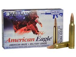 Federal American Eagle Tactical Ammunition 223 Remington 55 Grain Full Metal Jacket Boat Tail