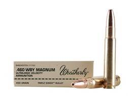 Weatherby Ammunition 460 Weatherby Magnum 450 Grain Barnes Triple-Shock X Bullet Hollow Point Lea...