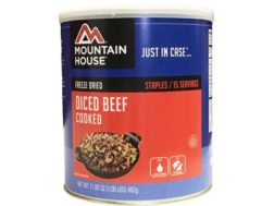 Mountain House 15 Serving Diced Beef Freeze Dried Food #10 Can