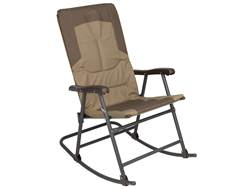 ALPS Mountaineering Rocking Camp Chair Steel and Polyester Khaki and Brown