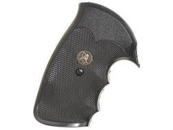 Pachmayr Gripper Grips with Finger Grooves Colt Python Rubber Black