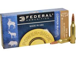 Federal Power-Shok Ammunition 243 Winchester 85 Grain Copper Hollow Point Lead-Free Box of 20