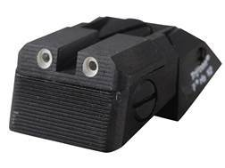 Kensight Fully Adjustable Defensive Rear Night Sight 1911 Novak LoMount Cut Steel Black Serrated ...